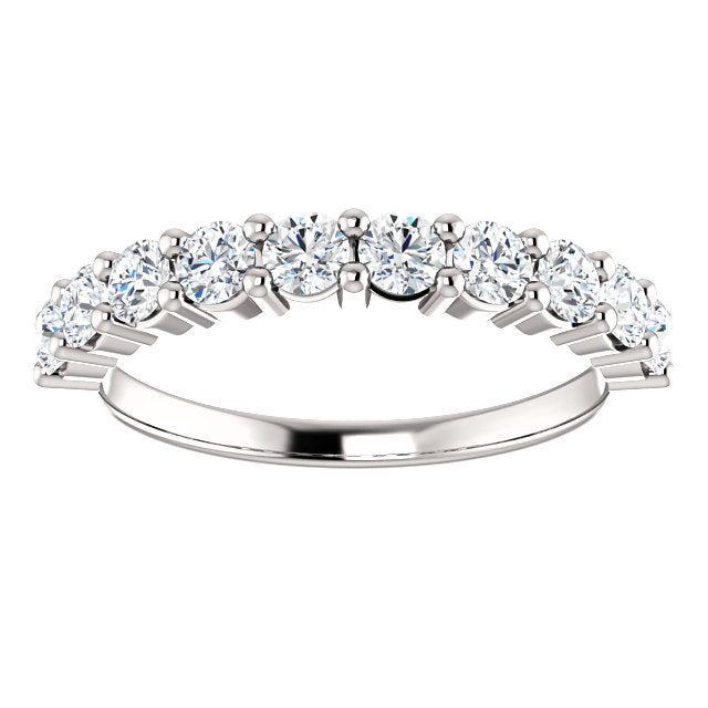 3/4ct 14k Diamond Wedding Band with Shared Prongs