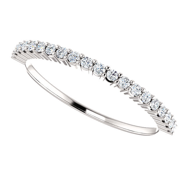 1/5ct 14k Diamond Wedding Band with Shared Prongs