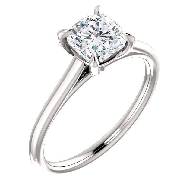 The Jenna - Solitaire Cushion Cut Diamond Engagement Ring