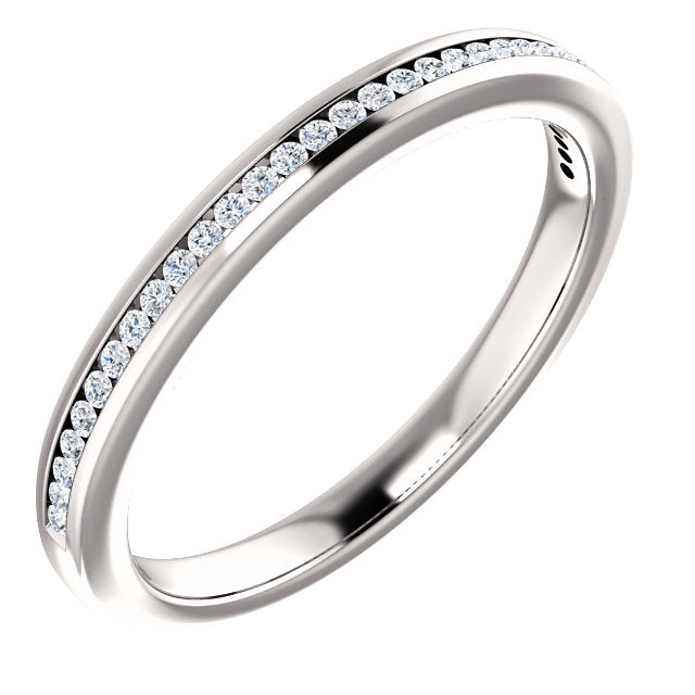 1/7ct 14k Channel Set Diamond Wedding Band