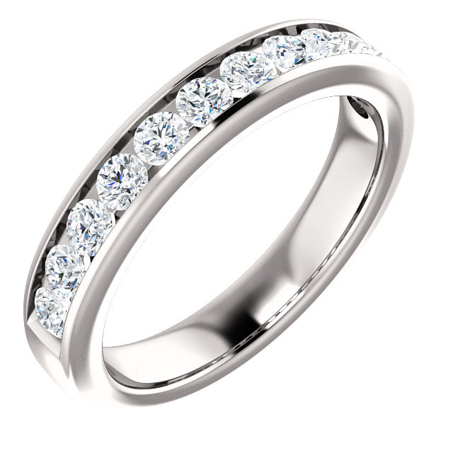 3/4ct 14k Channel Set Diamond Wedding Band
