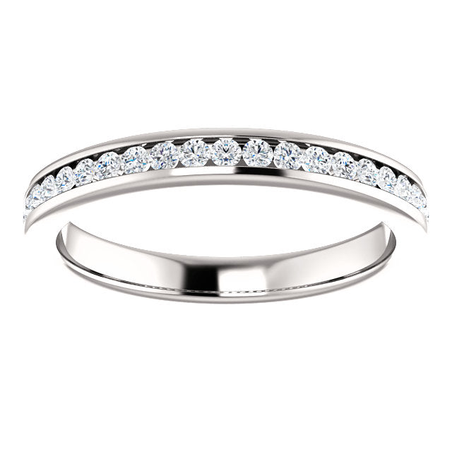 1/3ct 14k Channel Set Diamond Wedding Band