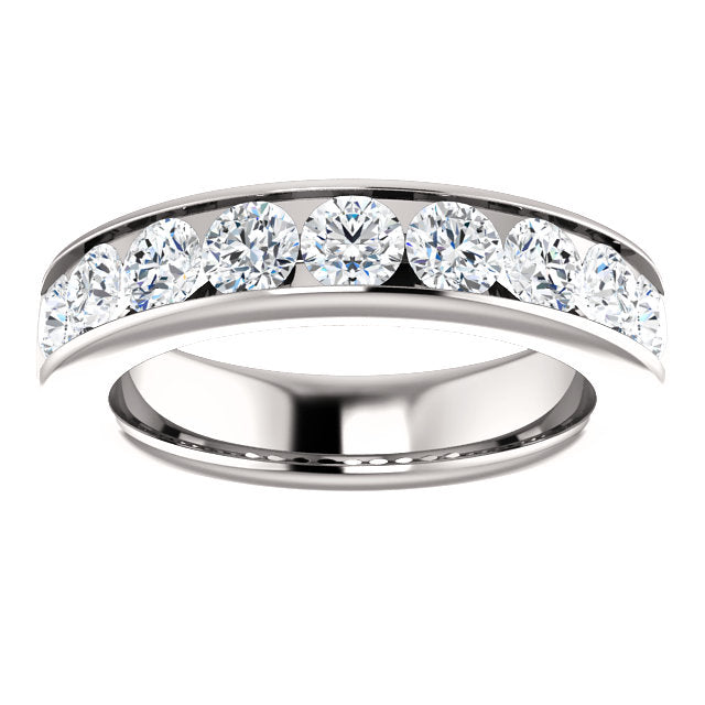 1.50ct 14k Channel Set Diamond Wedding Band