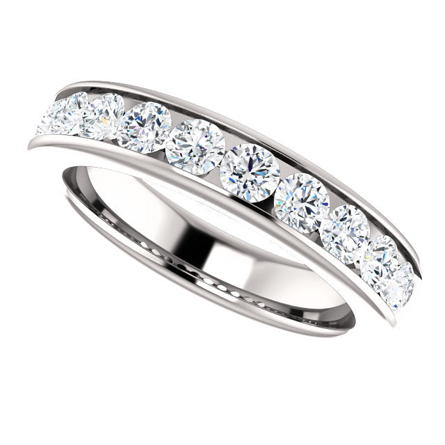1.00ct 14k Channel Set Diamond Wedding Band