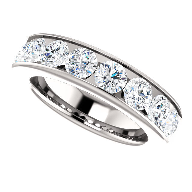 2.00ct 14k Channel Set Diamond Wedding Band
