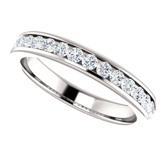 1/2ct 14k Channel Set Diamond Wedding Band