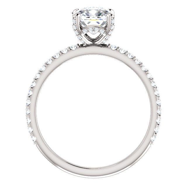 The Ezra - Cushion Cut Diamond Engagement Ring with Side Stones