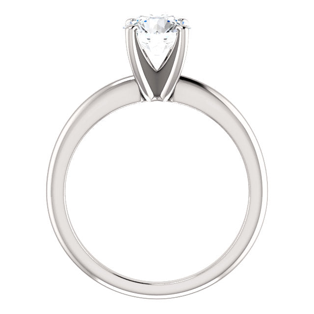 The Zoe - Solitaire Round Diamond Engagement Ring