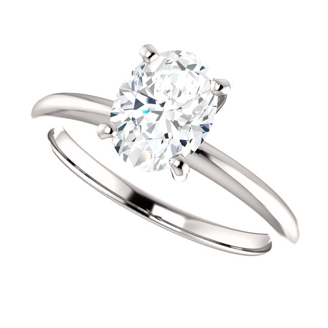 The Zoe - Solitaire Oval Diamond Engagement Ring
