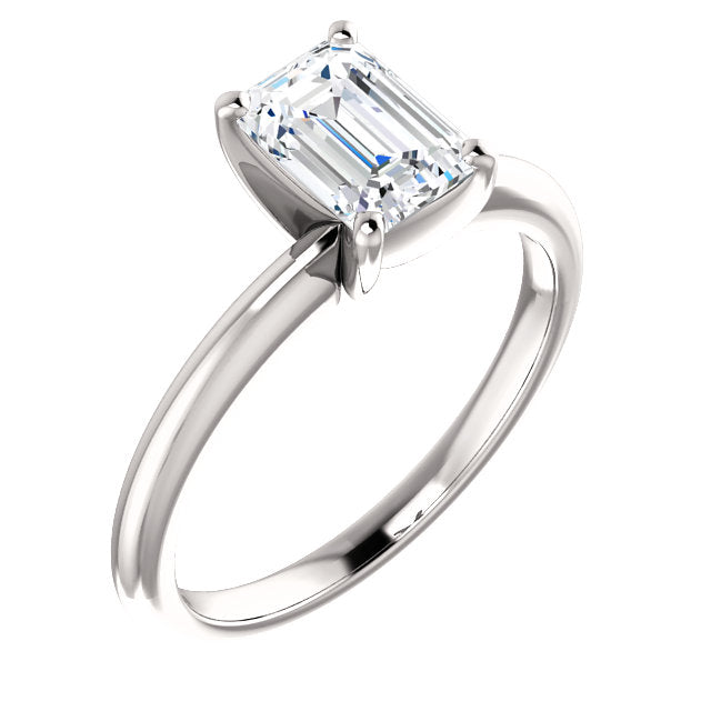 The Zoe - Solitaire Emerald Cut Diamond Engagement Ring