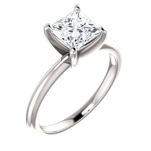 The Zoe - Solitaire Princess Cut Diamond Engagement Ring