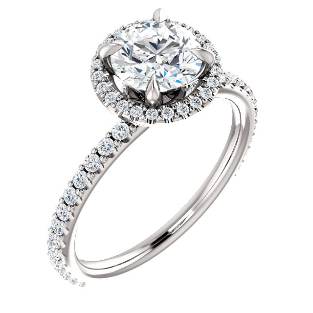 The Isabel - Round Halo Diamond Engagement Ring