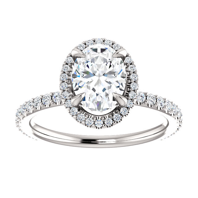 The Isabel - Oval Halo Diamond Engagement Ring