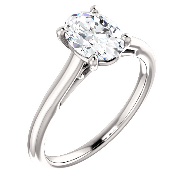 The Hannah - Solitaire Oval Diamond Engagement Ring