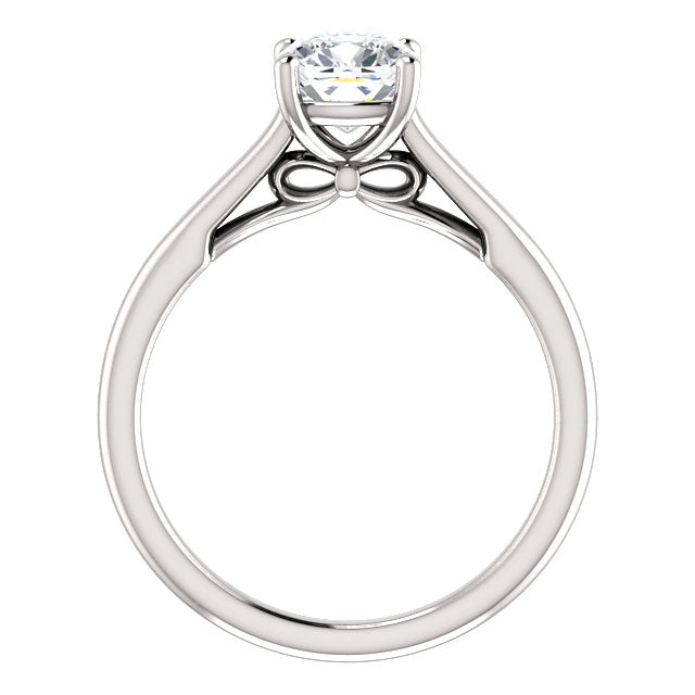The Hannah - Solitaire Cushion Cut Diamond Engagement Ring