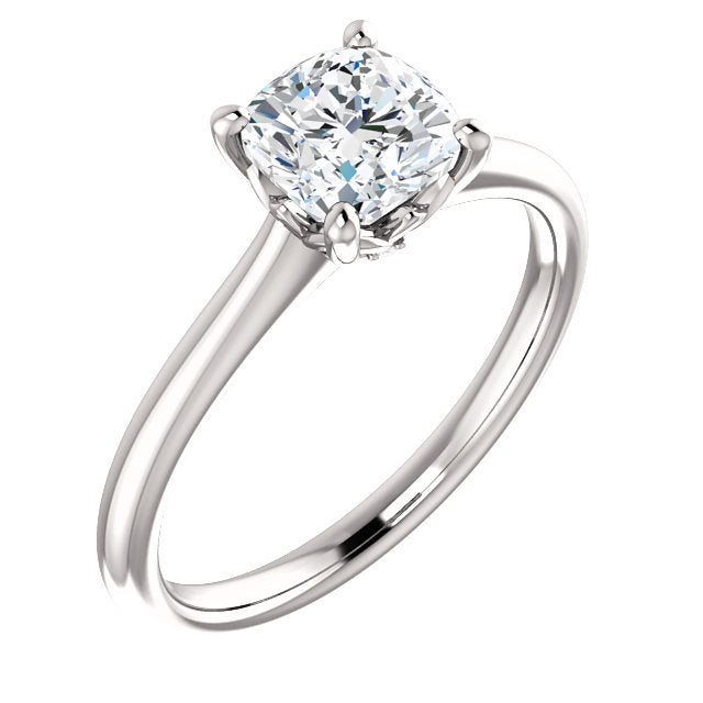 The Molly - Solitaire Cushion Cut Diamond Engagement Ring