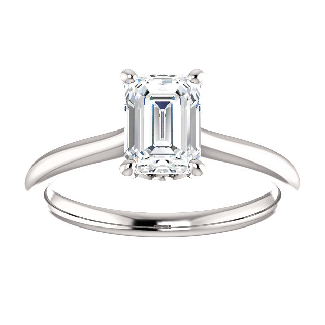 The Molly - Solitaire Emerald Cut Diamond Engagement Ring