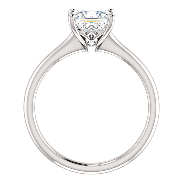 The Molly - Solitaire Princess Cut Diamond Engagement Ring