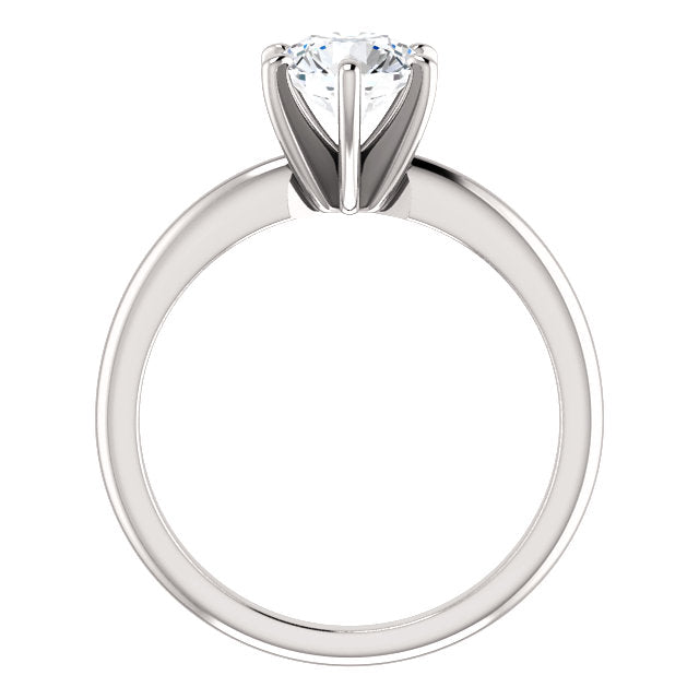 The Mila - Solitaire Round Diamond Engagement Ring 6 Prong