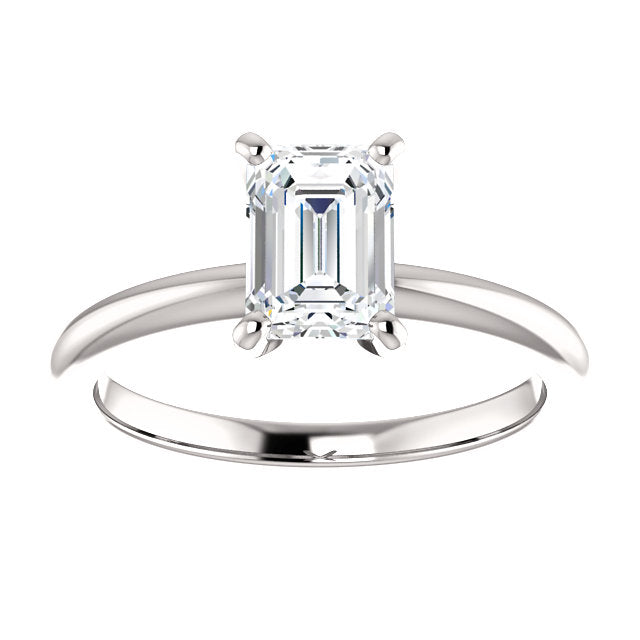 The Mila - Solitaire Emerald Cut Diamond Engagement Ring 4 Prong