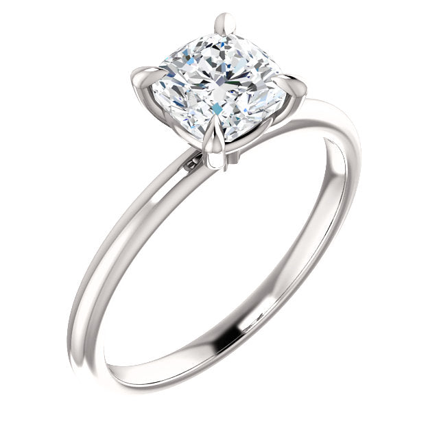 The Madeline - Solitaire Cushion Cut Diamond Engagement Ring