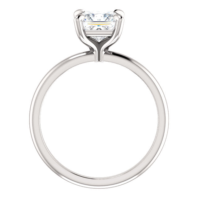 The Madeline - Solitaire Princess Cut Diamond Engagement Ring