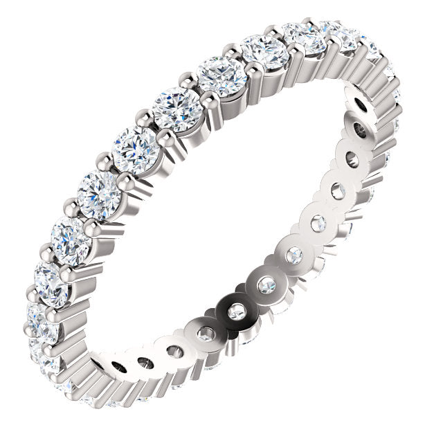 3/4ct 14k Low Profile Diamond Eternity Band with Shared Prongs