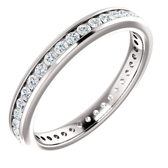 5/8ct 14k Diamond Eternity Classic Channel Set Band