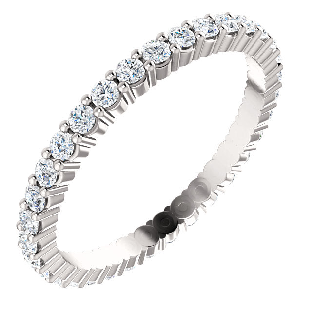 5/8ct 14k Low Profile Diamond Eternity Band with Shared Prongs