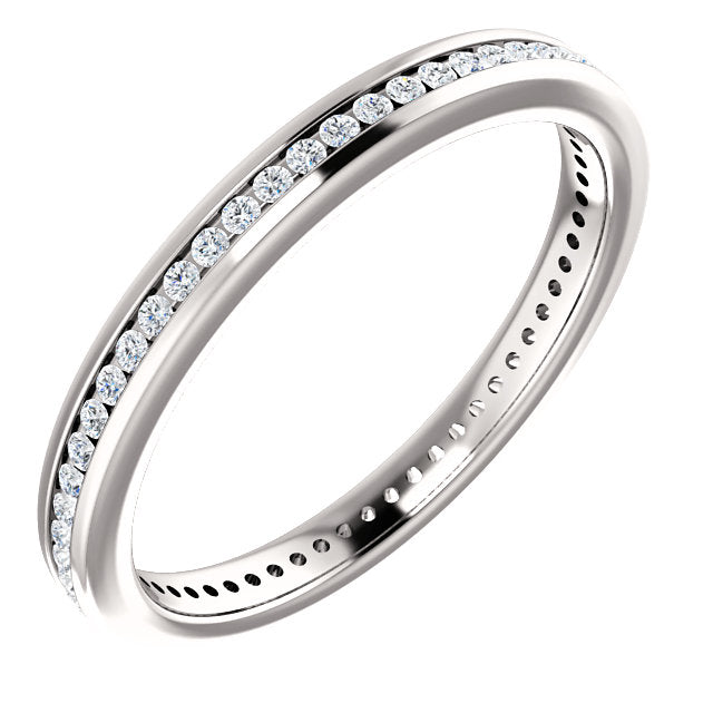 1/3ct 14k Diamond Eternity Classic Channel Set Band