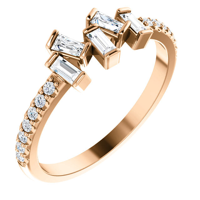 Scatter Stack Diamond Ring