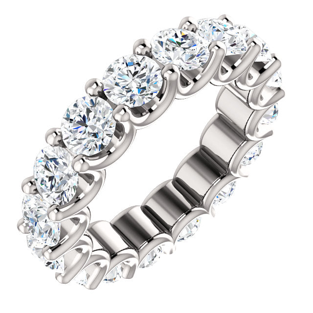 5.75ct 14k Diamond Eternity Band with Scalloped Style Shared Prongs