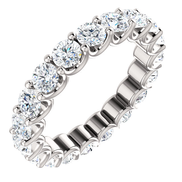3.00ct 14k Diamond Eternity Band with Scalloped Style Shared Prongs