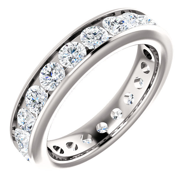 2.00ct 14k Diamond Eternity Classic Channel Set Band