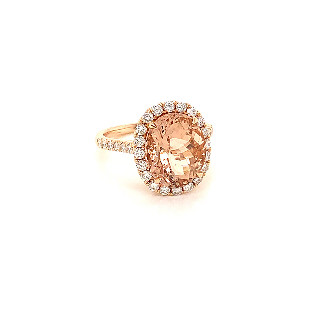 5.30CT Morganite and Diamond Ring