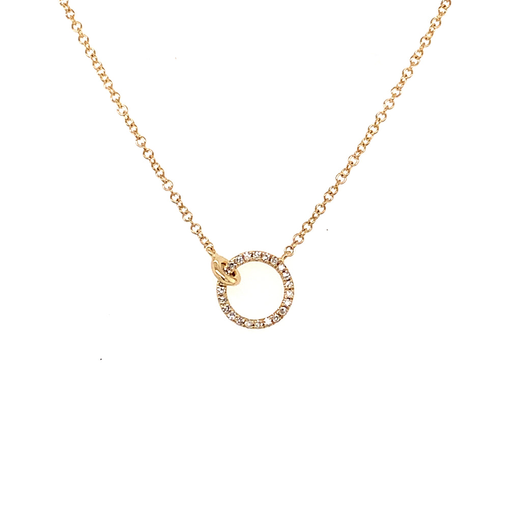 Interlocking Circle Diamond Necklace