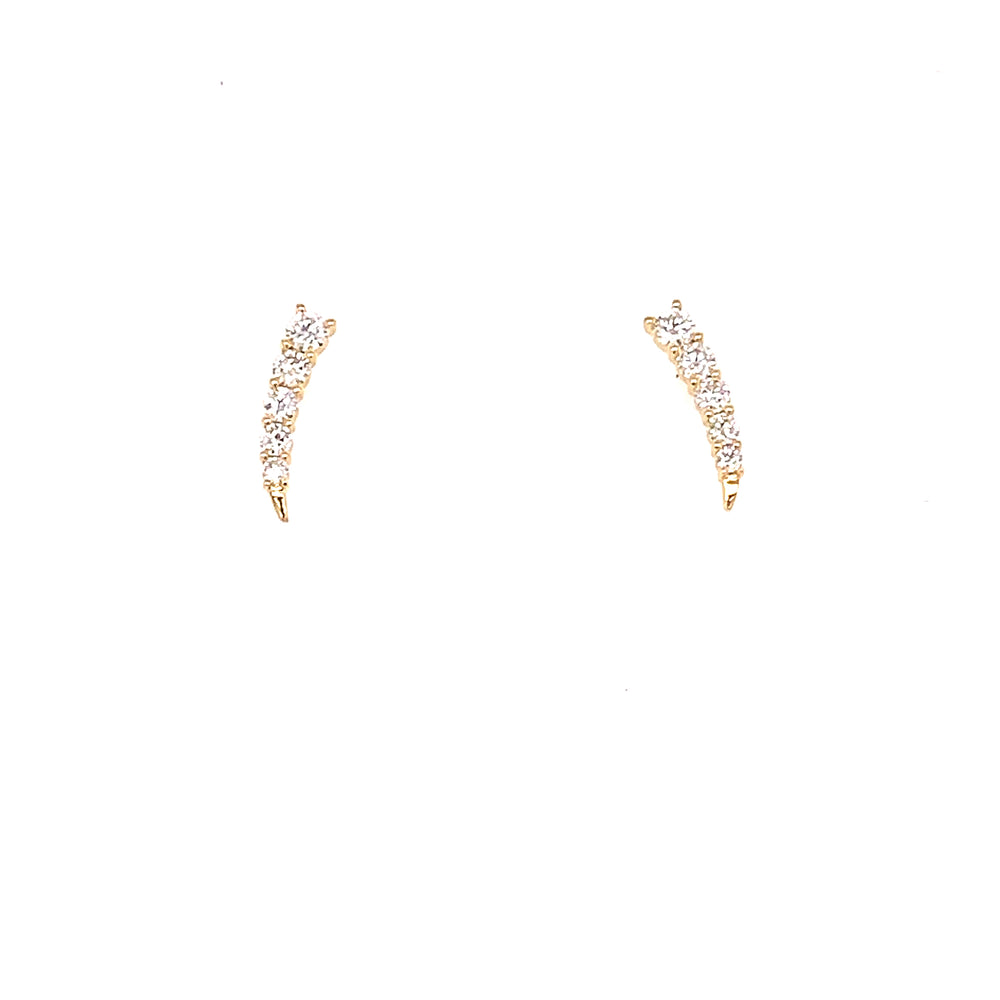 Graduated Spike Climber Earrings