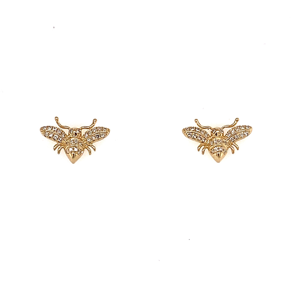 Bumble Bee Diamond Studs