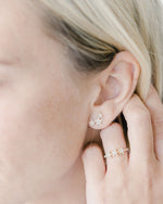 Triple Star Diamond Earrings