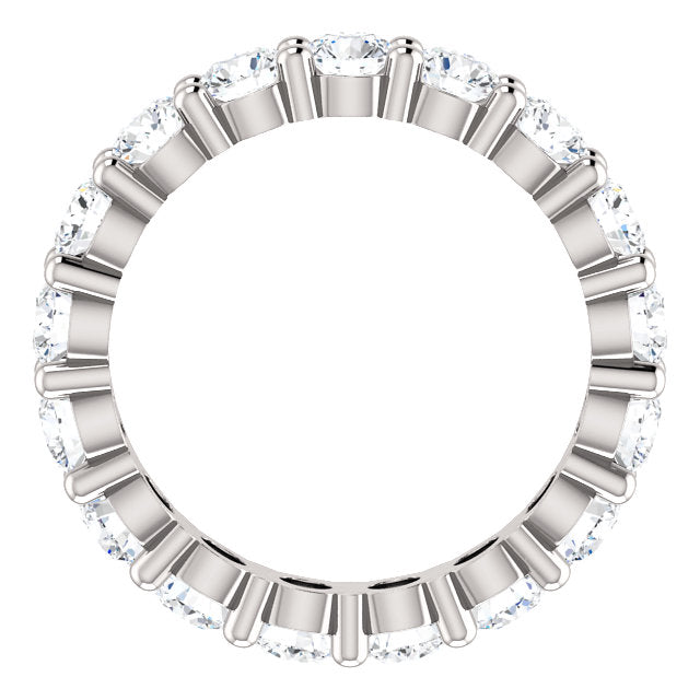 2.55ct 14k Low Profile Diamond Eternity Band with Shared Prongs