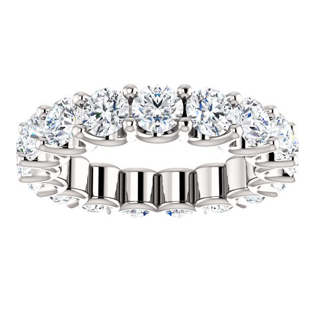 4.25ct 14k Diamond Eternity Band with Scalloped Style Shared Prongs