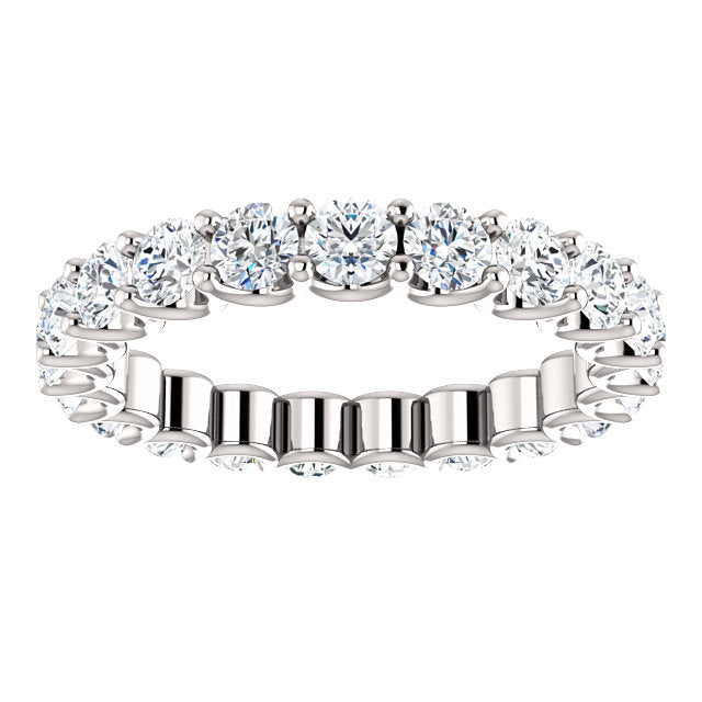 2.00ct 14k Diamond Eternity Band with Scalloped Style Shared Prongs