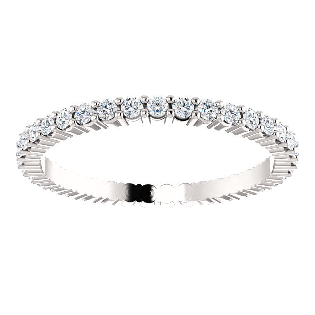 1/2ct 14k Low Profile Diamond Eternity Band with Shared Prongs