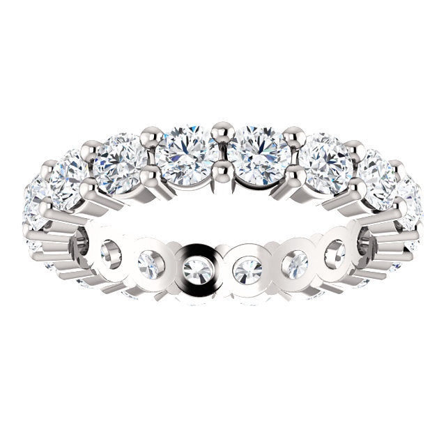 2.15ct 14k Low Profile Diamond Eternity Band with Shared Prongs
