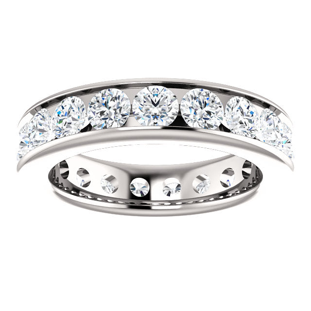 3.00ct 14k Diamond Eternity Classic Channel Set Band