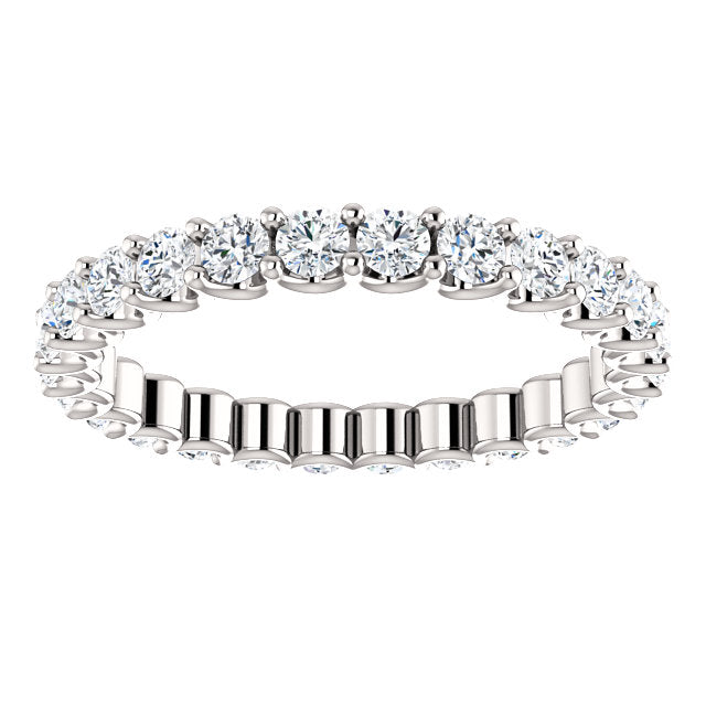 1.00ct 14k Diamond Eternity Band with Scalloped Style Shared Prongs