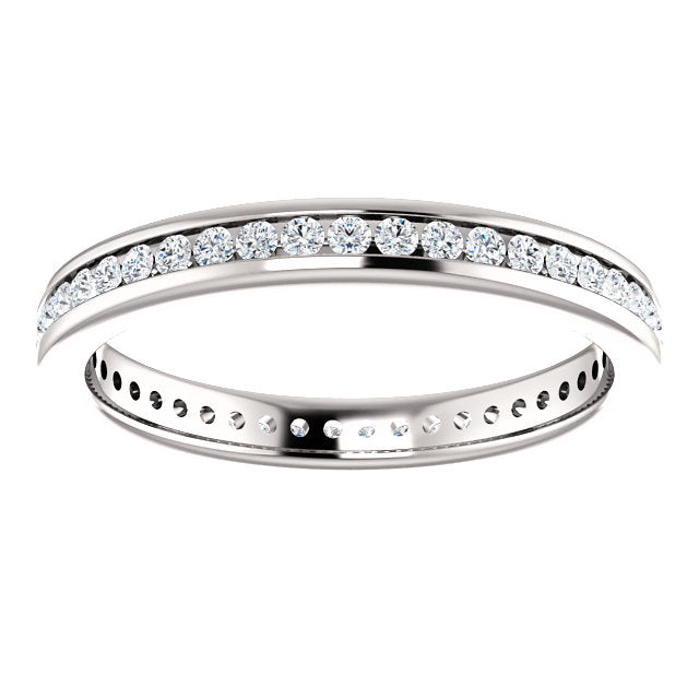 3/8ct 14k Diamond Eternity Classic Channel Set Band