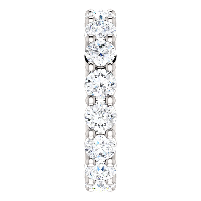 3.20ct 14k Low Profile Diamond Eternity Band with Shared Prongs