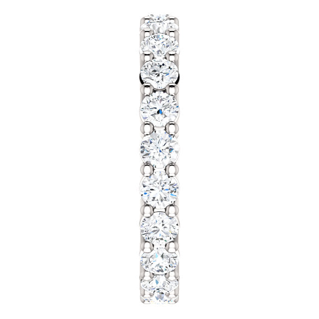 1.50ct 14k Low Profile Diamond Eternity Band with Shared Prongs