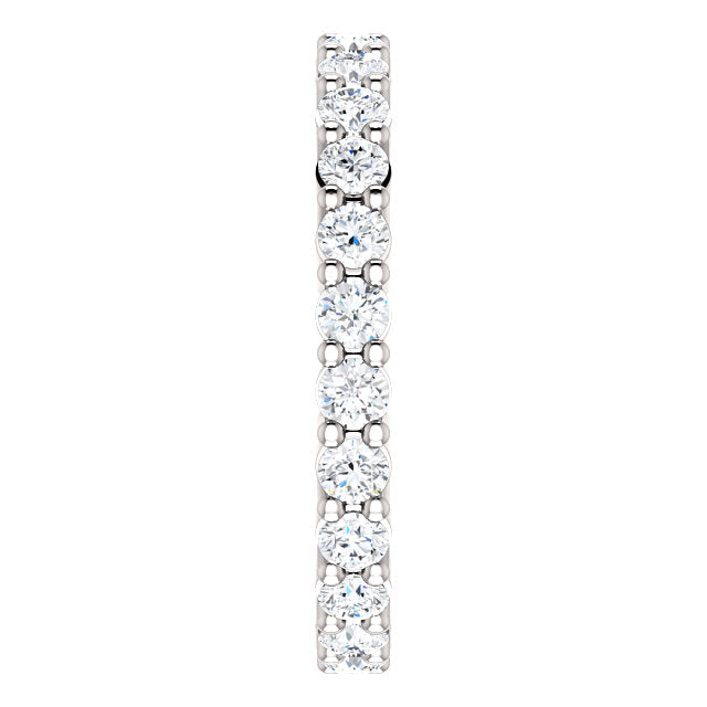 1.00ct 14k Low Profile Diamond Eternity Band with Shared Prongs